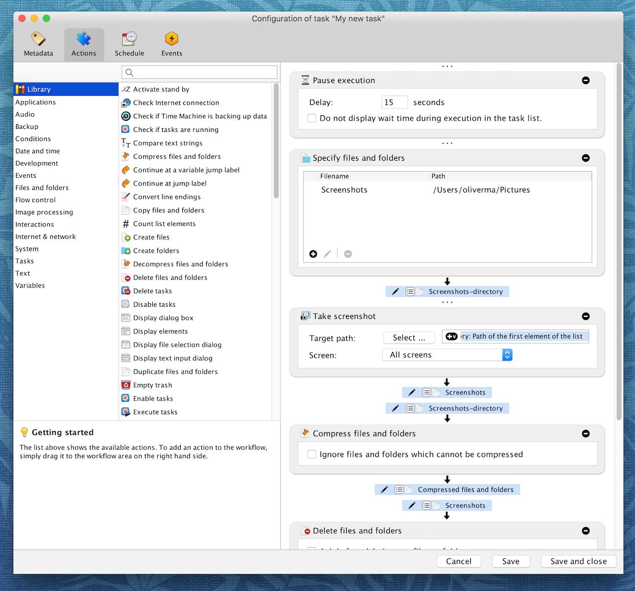 Task Till Dawn for Mac OS X screenshot