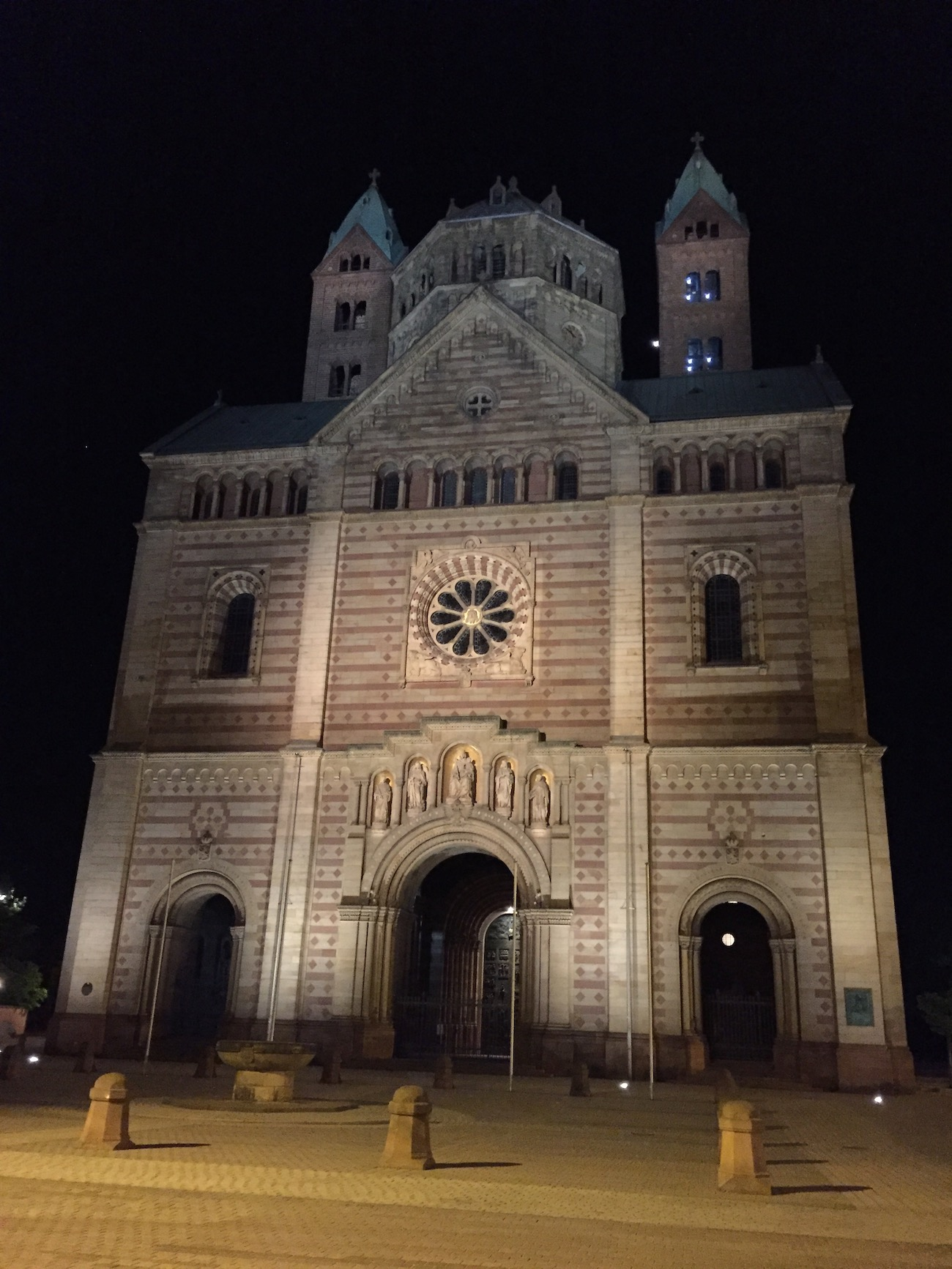Speyer Cathedral at night