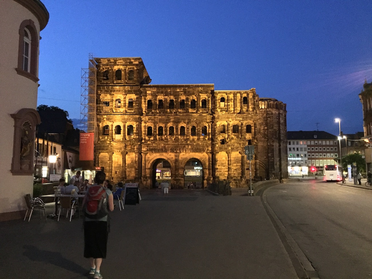 ... and the Porta Nigra at night