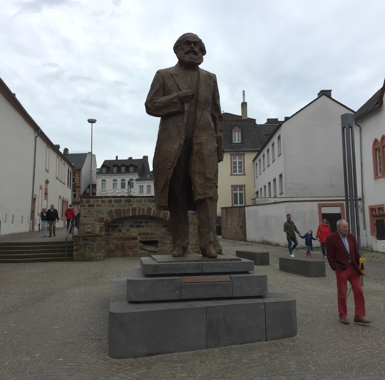 The statue of Karl Marx